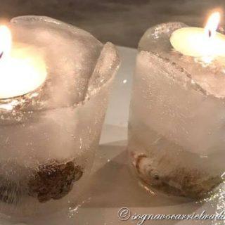 candele di ghiaccio