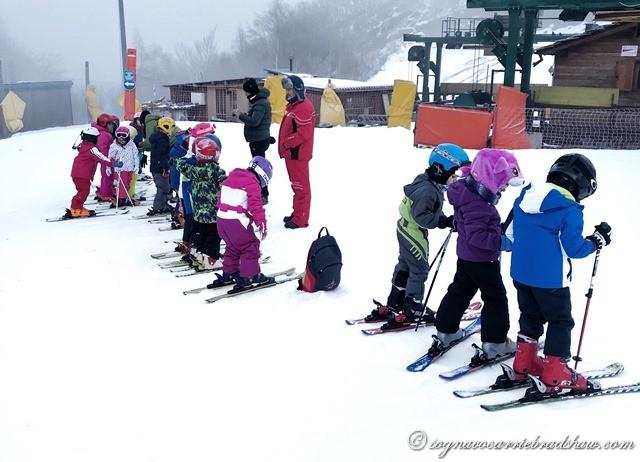 sciare con i bambini abbigliamento