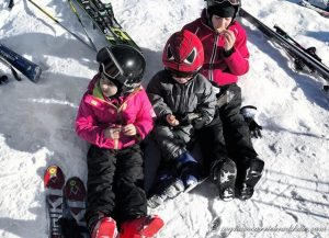 sciare con bambini attrezzatura